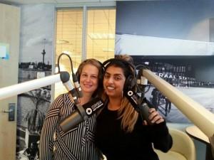 Lejla Barakovic met Sam Uittenbogaart van radio OPEN Rotterdam