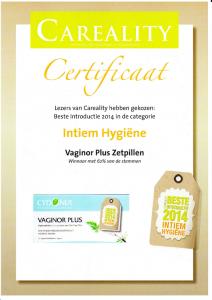 Certificaat beste introductie 2014