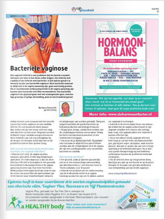 Lijf & Gezondheid bacteriele vaginose advertentie Cydonia