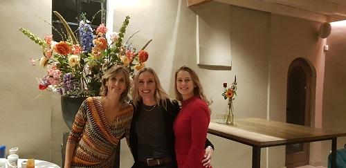 V.l.n.r. Ginny Chamorro, Katja Kortenbroek en Lejla Barakovic